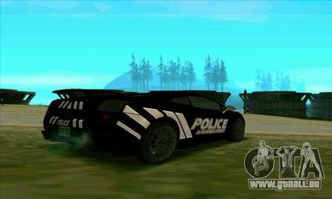 Federal Police Lamborghini Gallardo pour GTA San Andreas sur la vue arrière gauche