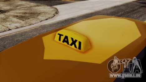 Minivan Cabbie SA Style pour GTA San Andreas sur la vue arrière gauche