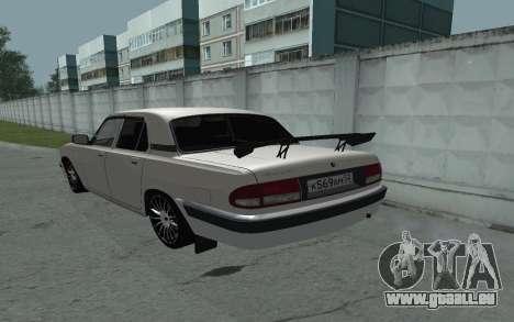 GAZ 31105 Volga für GTA San Andreas zurück linke Ansicht