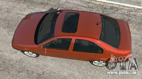 GTA 5 Volkswagen Bora vue arrière