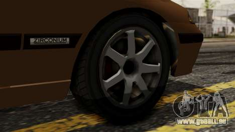 GTA 5 Zirconium Stratum pour GTA San Andreas sur la vue arrière gauche