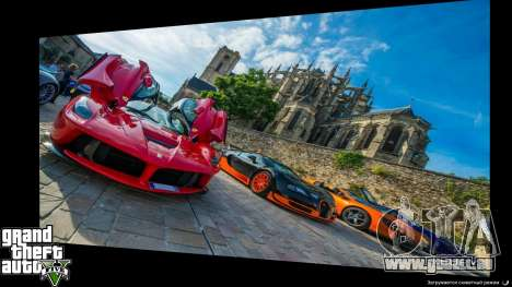 Supercars Loading Screens für GTA 5