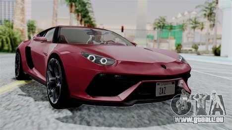 Lamborghini Asterion Concept 2015 v2 für GTA San Andreas
