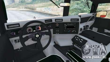 GTA 5 Hummer H1 droite vue latérale