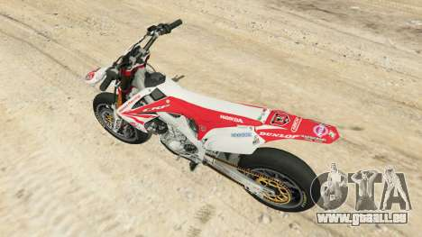 GTA 5 Honda CRF450 Turbo Motard Rückansicht