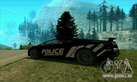 Federal Police Lamborghini Gallardo pour GTA San Andreas laissé vue