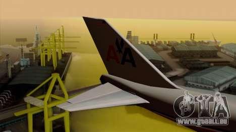 Boeing 747-100 American Airlines pour GTA San Andreas sur la vue arrière gauche