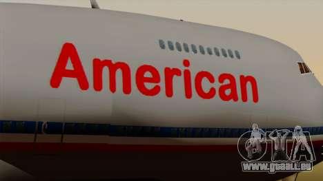 Boeing 747-100 American Airlines pour GTA San Andreas vue arrière