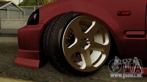 Honda Civic Hatchback B. O. De La Construction pour GTA San Andreas sur la vue arrière gauche