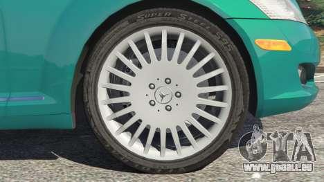 GTA 5 Mercedes-Benz S550 W221 v0.4.2 [Alpha] arrière droit vue de côté