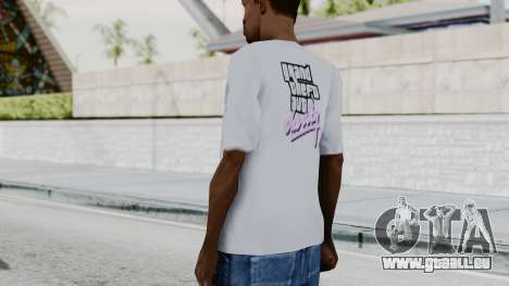 GTA Vice City T-shirt White pour GTA San Andreas troisième écran