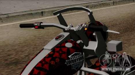 Classic Batik Motorcycle pour GTA San Andreas vue de droite