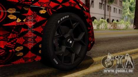 Lykan Hypersport Batik pour GTA San Andreas sur la vue arrière gauche