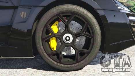 GTA 5 Lykan HyperSport 2014 arrière droit vue de côté