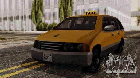 Minivan Cabbie SA Style pour GTA San Andreas vue de droite