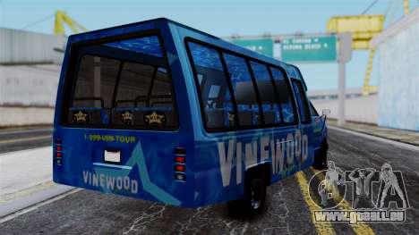Vinewood VIP Star Tour Bus für GTA San Andreas linke Ansicht