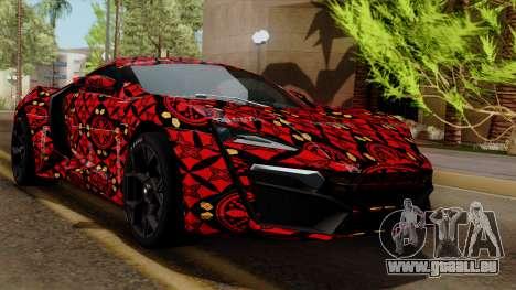 Lykan Hypersport Batik pour GTA San Andreas