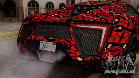 Lykan Hypersport Batik für GTA San Andreas obere Ansicht