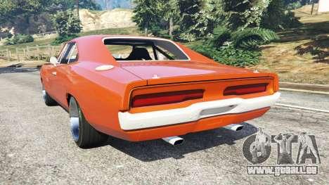 GTA 5 Dodge Charger 1970 Fast & Furious 7 arrière vue latérale gauche