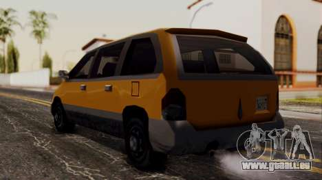 Minivan Cabbie SA Style pour GTA San Andreas laissé vue