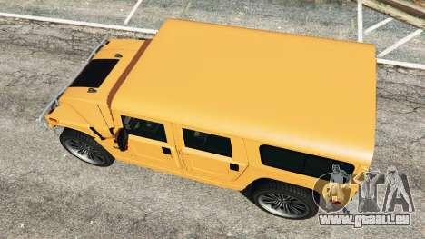 GTA 5 Hummer H1 vue arrière