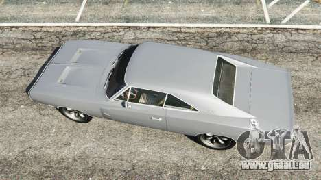 GTA 5 Dodge Charger RT SE 440 Magnum 1970 vue arrière