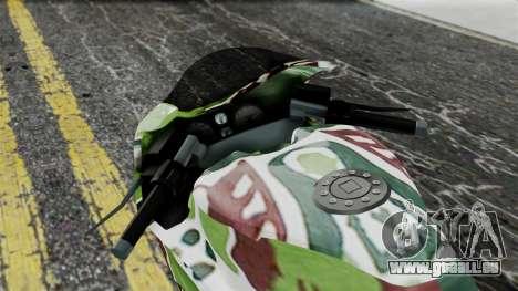Bati Wayang Camo Motorcycle für GTA San Andreas Rückansicht