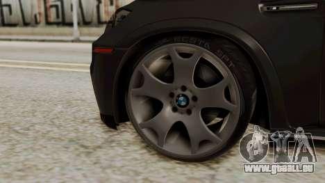BMW X5 pour GTA San Andreas sur la vue arrière gauche