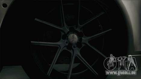 BMW M5 F10 Grey Demon pour GTA San Andreas vue arrière