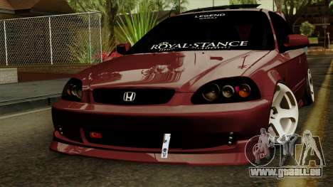 Honda Civic Hatchback B. O. Bau für GTA San Andreas