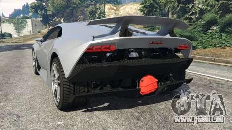 GTA 5 Lamborghini Sesto Elemento v0.5 arrière vue latérale gauche