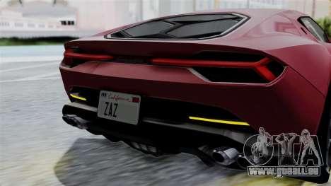Lamborghini Asterion Concept 2015 v2 pour GTA San Andreas vue de dessus