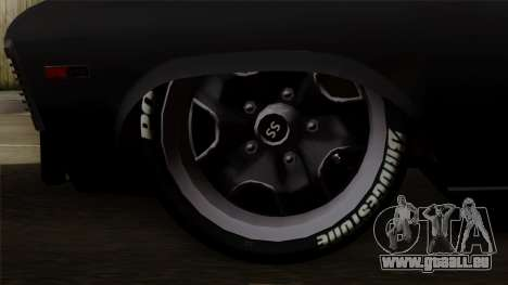 Chevrolet Nova SS pour GTA San Andreas sur la vue arrière gauche