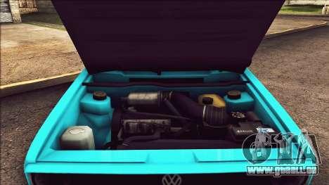 Volkswagen Golf MK1 pour GTA San Andreas vue intérieure