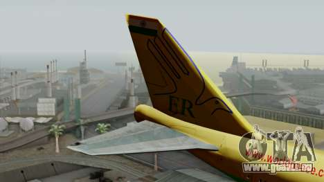 Boeing 747-400 World Peace pour GTA San Andreas sur la vue arrière gauche