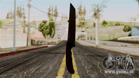 Nouveau couteau ensanglanté pour GTA San Andreas deuxième écran