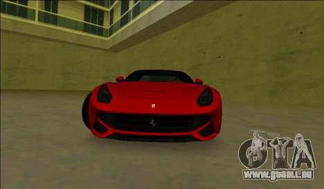 La Ferrari F12 Berlinetta pour une vue GTA Vice City de la gauche