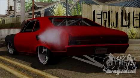 Chevrolet Nova SS pour GTA San Andreas laissé vue