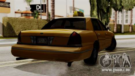 Ford Crown Victoria LP v2 Taxi pour GTA San Andreas sur la vue arrière gauche
