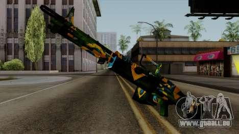 Brasileiro Minigun v2 für GTA San Andreas zweiten Screenshot