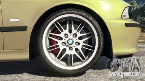 GTA 5 BMW M5 (E39) arrière vue latérale gauche