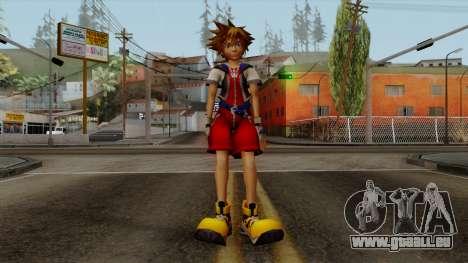 Kingdom Hearts 2 - Sora KH1 Costume für GTA San Andreas zweiten Screenshot