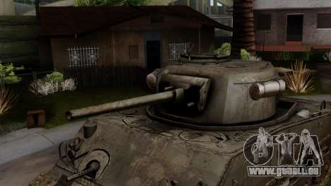 M4 Sherman from CoD World at War pour GTA San Andreas vue de droite