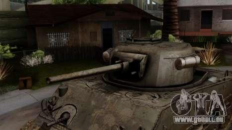 M4 Sherman from CoD World at War pour GTA San Andreas vue de droite