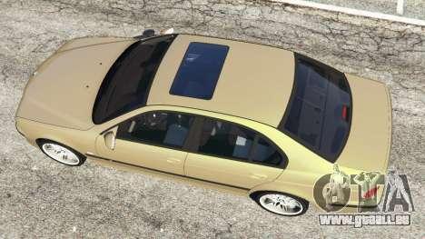 GTA 5 BMW M5 (E39) arrière droit vue de côté