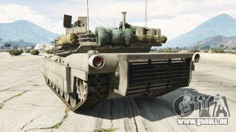 GTA 5 M1A2 Abrams v1.1 hinten links Seitenansicht