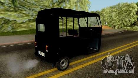 Indian Auto Rickshaw Tuk-Tuk für GTA San Andreas linke Ansicht