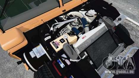 GTA 5 Hummer H1 arrière droit vue de côté