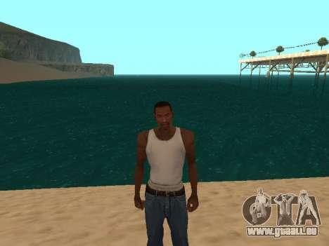 Vert foncé de l'eau réaliste pour GTA San Andreas deuxième écran