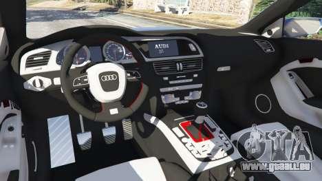 GTA 5 Audi S5 Coupe avant droite vue de côté